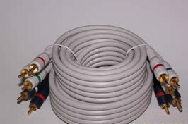 Component video & audio cable 75 Ft 5 RCA M/M